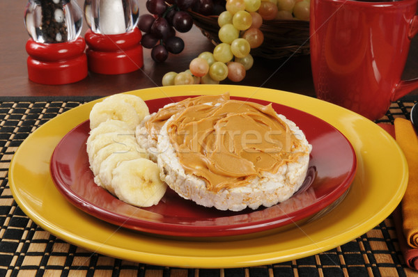 Peanut butter and banana on a rice cake Stock photo © MSPhotographic