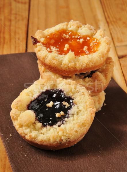 Shortbread cookies with jam Stock photo © MSPhotographic
