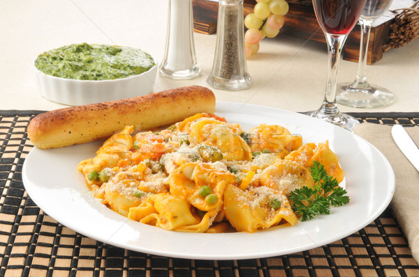 Foto stock: Cinco · queso · tortellini · espinacas · agua · alimentos