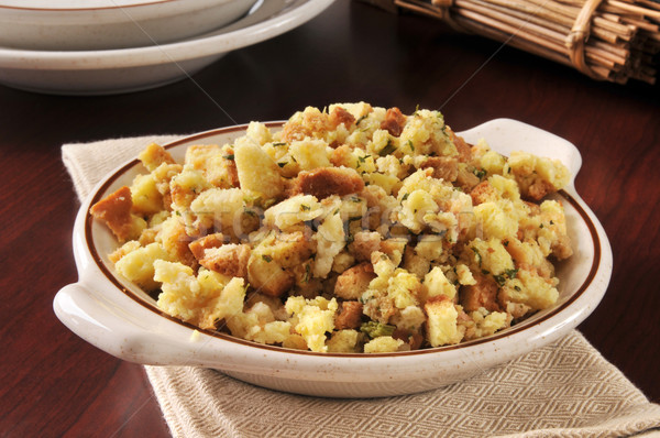 Corn bread stuffing Stock photo © MSPhotographic