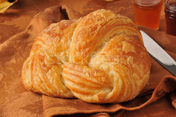 Buttery croissant Stock photo © MSPhotographic