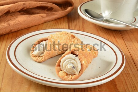 Vanilla chocolate chip cannoli Stock photo © MSPhotographic