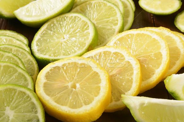 Citrus fruit citroenen voedsel vruchten Stockfoto © MSPhotographic