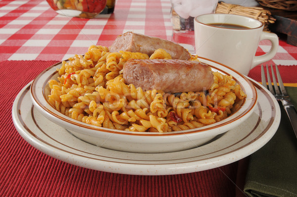 Stock photo: Jambalaya with sausage