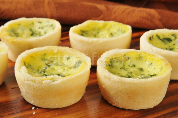 Quiche Florentine Stock photo © MSPhotographic