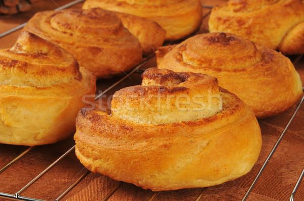 Fresh baked cinnamon rolls Stock photo © MSPhotographic