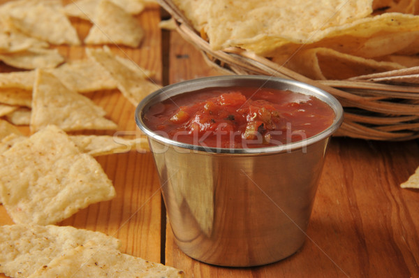 Salsa and tortilla chips Stock photo © MSPhotographic