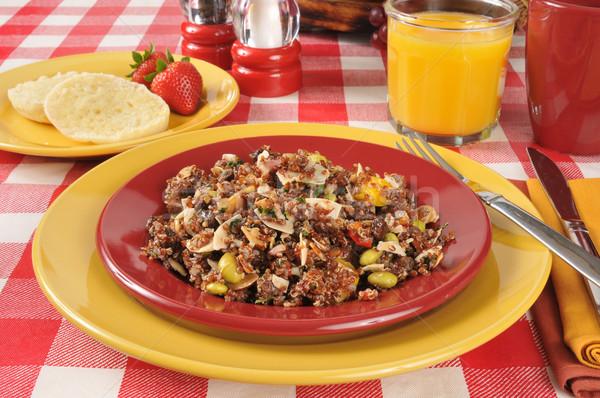 Healthy red quinoa salad Stock photo © MSPhotographic