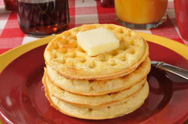 Stack of waffles Stock photo © MSPhotographic