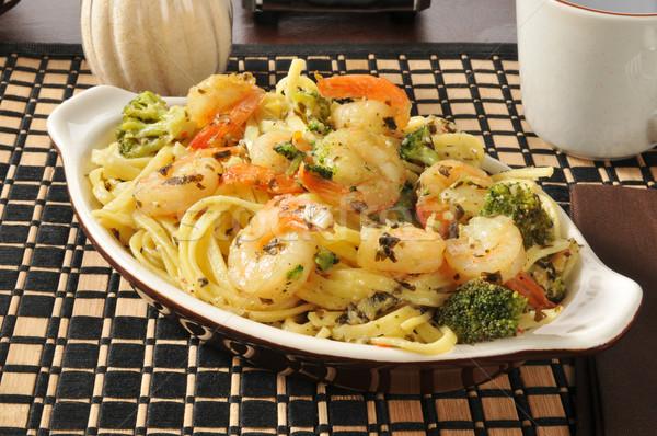Shrimp scampi and linguini Stock photo © MSPhotographic