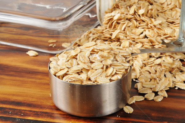 Uncooked rolled oats Stock photo © MSPhotographic