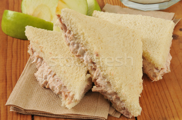 Tuna sandwich with the crust removed Stock photo © MSPhotographic