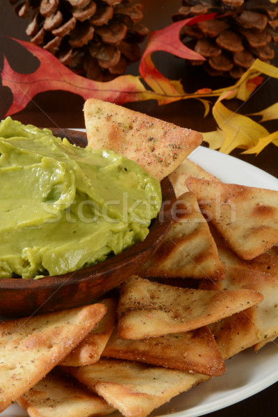 Vacaciones tostado pita chips mesa Foto stock © MSPhotographic