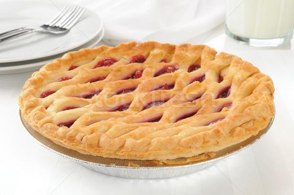 Gourmet cherry pie Stock photo © MSPhotographic