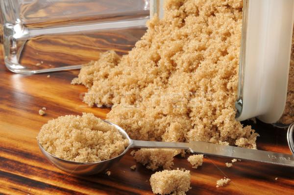 Zucchero di canna fuori vetro alimentare dolce zucchero Foto d'archivio © MSPhotographic