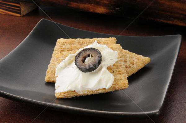 Crackers and cream cheese Stock photo © MSPhotographic