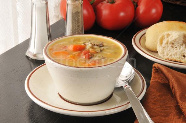 Stok fotoğraf: Pirinç · fincan · havuç · gıda