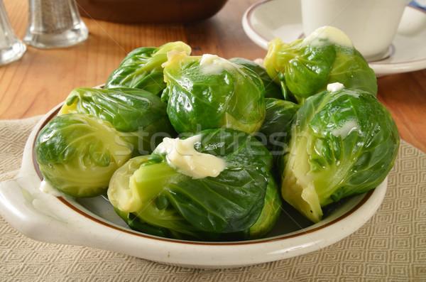 Bruselas tazón al vapor alimentos vegetales Foto stock © MSPhotographic