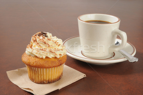 Tiramisu Cupcake and Coffee Stock photo © MSPhotographic