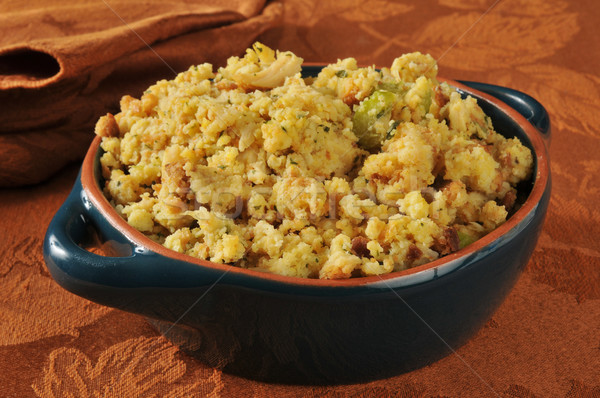 Cornbread stuffing with Turkey Stock photo © MSPhotographic