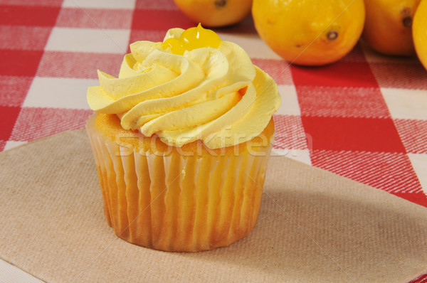 Cupcake with lemon frosting Stock photo © MSPhotographic