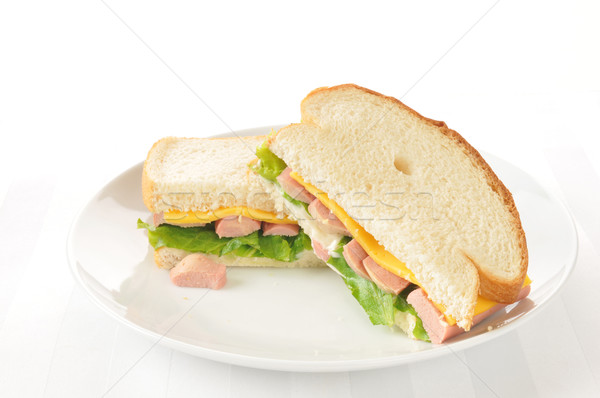 Vienna sausage sandwich Stock photo © MSPhotographic