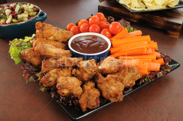 Party snack platter Stock photo © MSPhotographic
