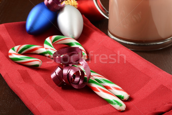 Candy canes and hot chocolate Stock photo © MSPhotographic