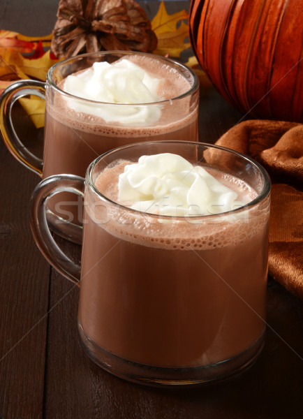 Hot chocolate and whipped cream Stock photo © MSPhotographic
