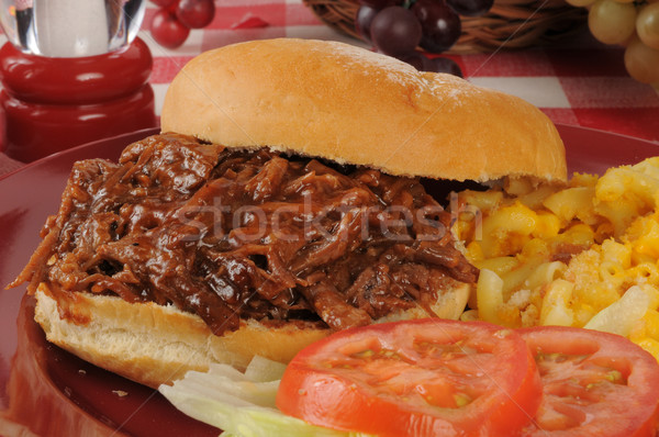 Pulled beef sandwich Stock photo © MSPhotographic