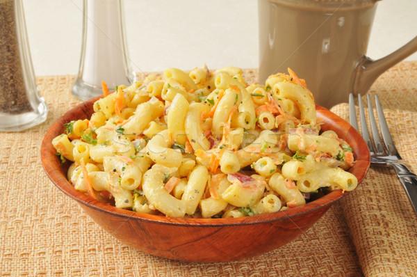 Makaróni saláta répák zeller csésze fűszer Stock fotó © MSPhotographic
