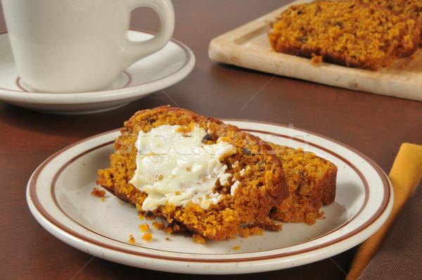 Pumpkin bread and coffee Stock photo © MSPhotographic