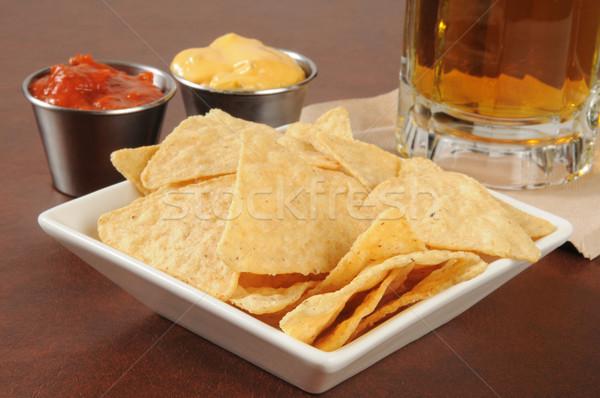 Nachos and beer Stock photo © MSPhotographic