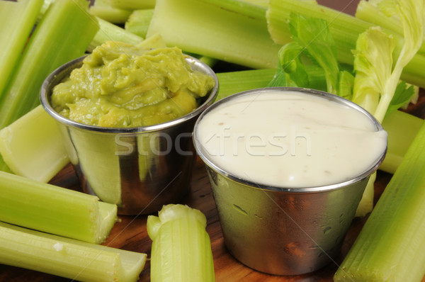 Guacomole and Ranch Dressing Dips Stock photo © MSPhotographic