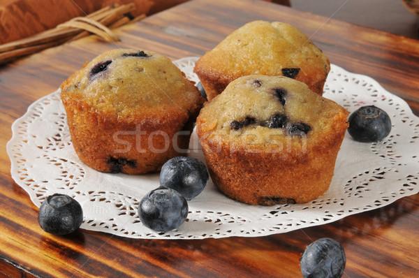Blueberry muffins Stock photo © MSPhotographic