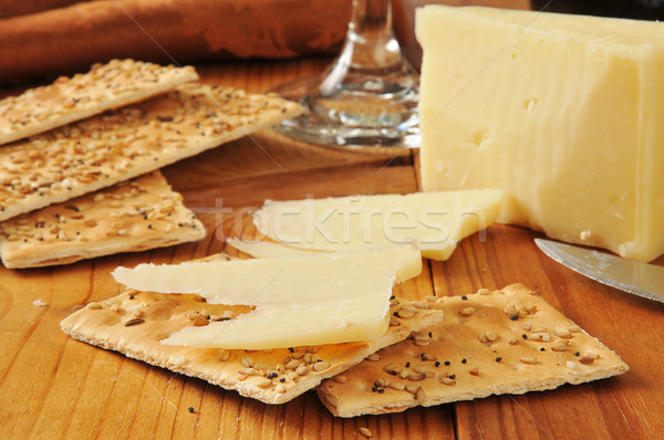 Sharp Vermont White cheddar cheese Stock photo © MSPhotographic