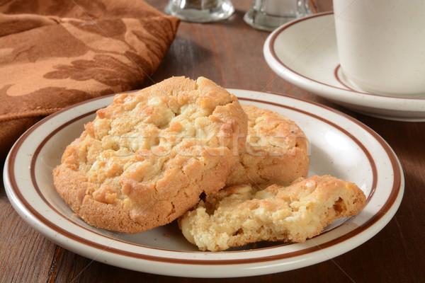 Gourmet macadamia nut cookies Stock photo © MSPhotographic
