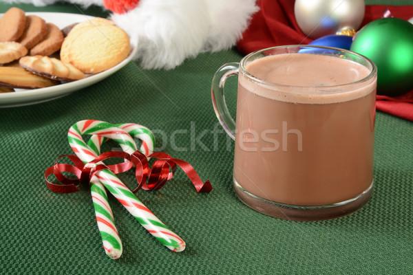 Photo stock: Bonbons · chocolat · chaud · tasse · Noël · cookies · sweet