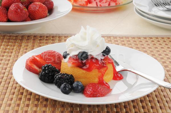 Shortcake dessert Stock photo © MSPhotographic