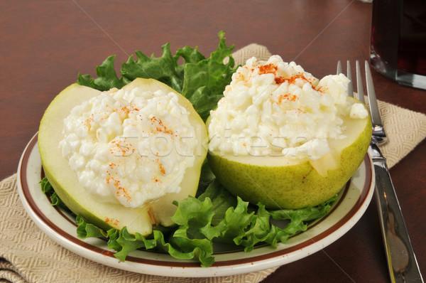 Süzme peynir armut armut cam içmek öğle yemeği Stok fotoğraf © MSPhotographic