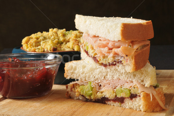 Turkey sandwich on homemade bread Stock photo © MSPhotographic
