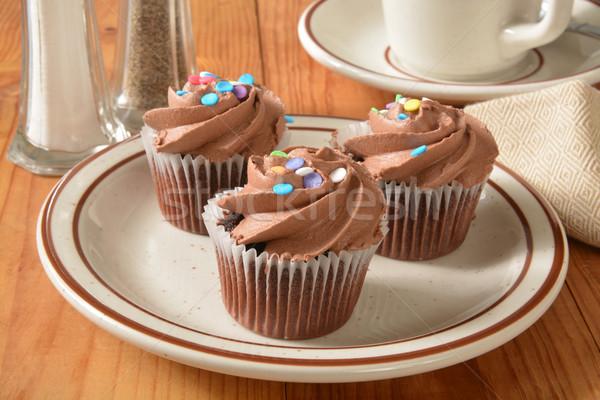 chocolate cupcakes Stock photo © MSPhotographic