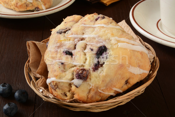 Blueberry scones in a basket Stock photo © MSPhotographic