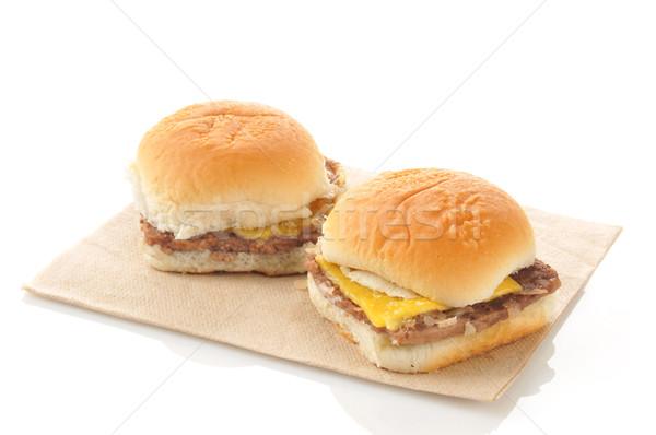 Cheeseburger carta sfondo pasto tovagliolo orizzontale Foto d'archivio © MSPhotographic