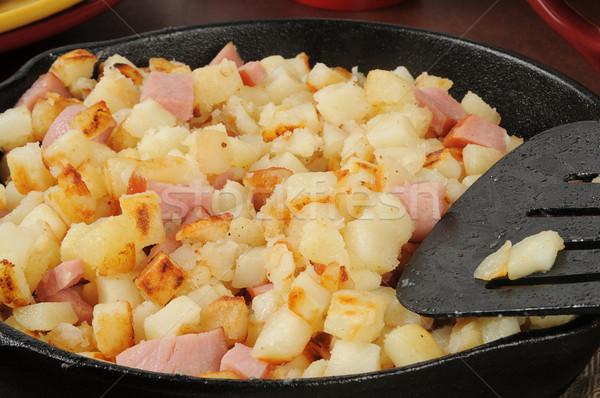 Diced ham and potatoes Stock photo © MSPhotographic