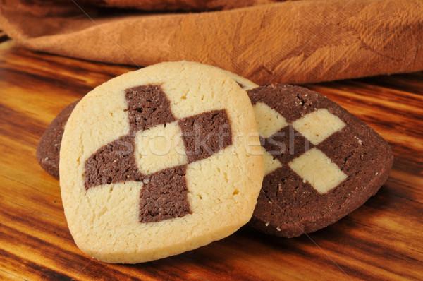 Azúcar cookies bordo patrón alimentos Foto stock © MSPhotographic
