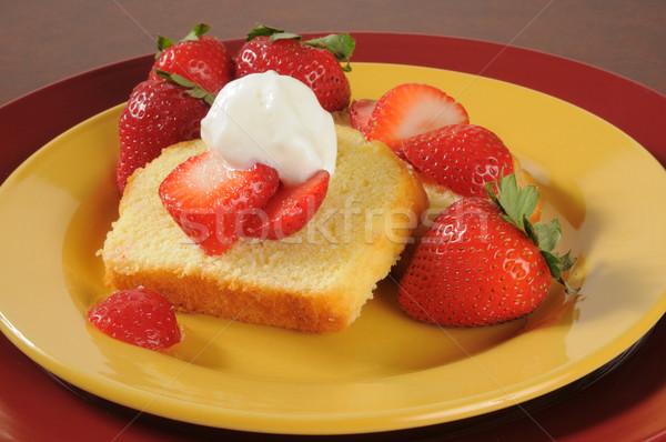 Strawberry shortcake Stock photo © MSPhotographic