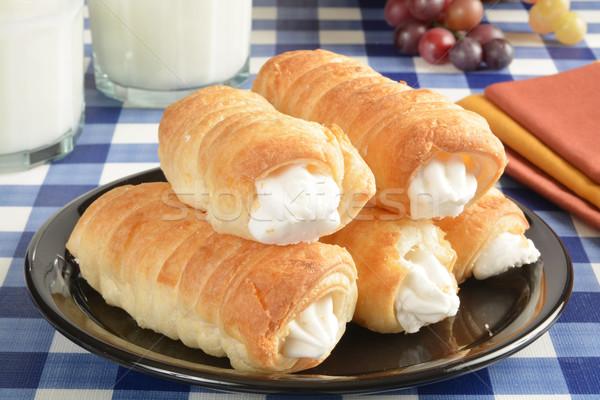 Cream horn pastries Stock photo © MSPhotographic