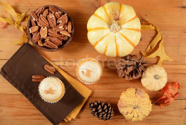 Pecan pie cupcakes Stock photo © MSPhotographic