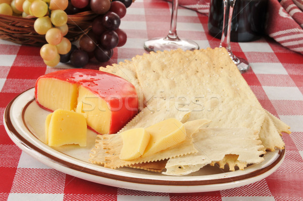 Gouda cheese and crackers Stock photo © MSPhotographic